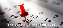The Events Calendar for 2016