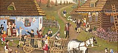 Life in the Ruthenian countryside - from Michal Sirik Ruthenian naive author